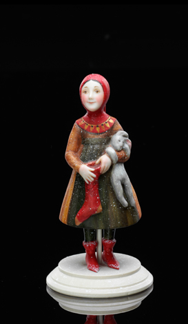 The girl with a Miniature the girl with a leveret