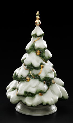 Fir-tree (green with the snow)