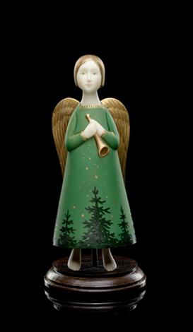 Winter Angel </ br> (with dark trees)
