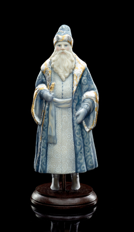 Father Frost (in blue)